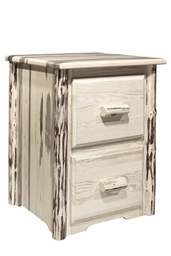 Montana Wood Cabinet - Montana Woodworks MWFC2V Montana Collection 2-Drawer File Cabinet, Clear Lacquer Finish