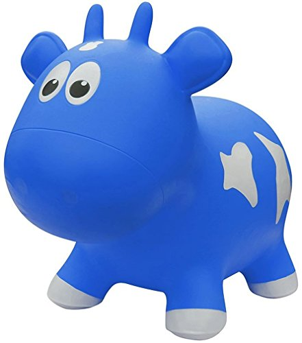 Farm Hoppers Award Winning Inflatable Bouncing Blue Cow w...
