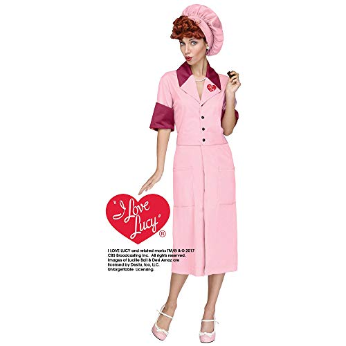 Halloween Costume Factory (I Love Lucy Womens Candy Factory Costume -)