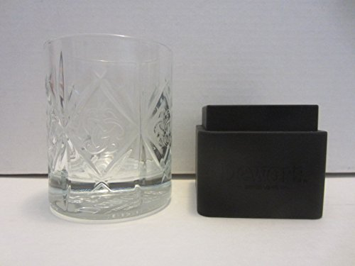 Dewars Scotch Whisky - Dewars Scotch Whisky Trefoil Celtic Truth Knot Glass w/Ice Cube Ball Mold