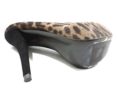 scarpe donna STUART WEITZMAN 37 EU decoltè marrone / nero cavallino AZ940