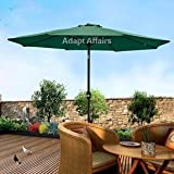 Luxury Metal Center Pole Patio Umbrella Green Color with Base - Garden Umbrella / Outdoor Umbrella / Large Umbrella / Resort Umbrella / Terrace Umbrella / Lawn Umbrella / Patio Umbrella / Cafe Umbrella