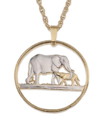 Elephant Pendant & Necklace Malawi Florin Hand Cut