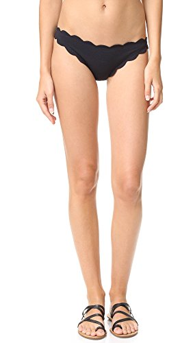 Marysia Swim Women's Antibes Scallop Bikini Bottoms, Black, Large