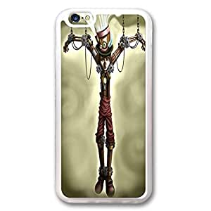 iPhone 6 Plus Case,Fashion Durable Transparent Side design for iPhone 6 Plus(5.5 inch),Rubber(TPU) material Phone Cover,Designed Specially Pattern with Steam Punk Pinocchio.
