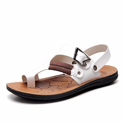 Il nuovo Uomini sandali Uomini estate traspirante Spiaggia scarpa Uomini sandali Uomini Antiscivolo Tempo libero scarpa ,bianca,US=8,UK=7.5,EU=41 1/3,CN=42