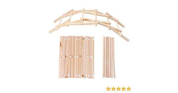 Xuniu Da Vinci Bridge Pathfinders Modelo de construcción de Madera Kit Building Blocks Kids Toy: Amazon.es: Hogar