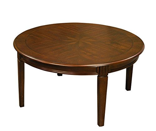 Fairview Game Rooms Classicl Round Coffee Table in Chestnut Finish