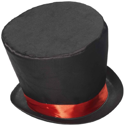 Forum Novelties Men's Mad Hatter Costume Hat, Black/Red, One Size (Men Mad Hatter Costume)