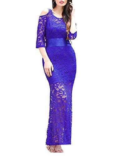 merletto Flessibile Blu In Fiocco Strappy In Forma Abito Coolred Vita Donne Da Colore Delle Puro Giacca Violaceo Cocktail dqd0CWFH