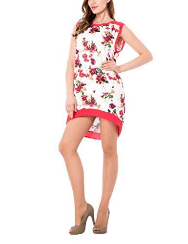 Solo Capri Abito Scampanato, Vestido para Mujer Multicolor (Dietro Rosso400)