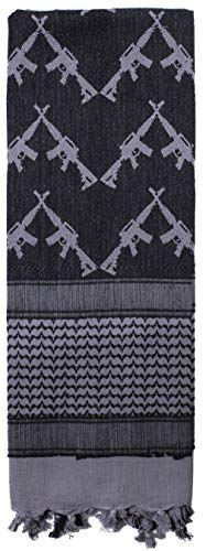 BlackC Sport Shemagh Scarf Crossed Rifles Military