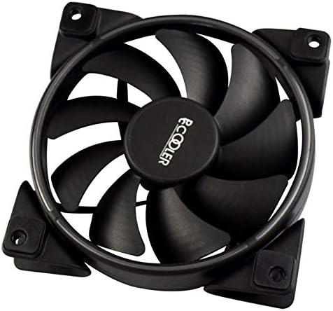ZicHEXING-US PCCOOLER 12cm RGB Light PC Cooling Fan 4 Pin PWM Quiet PC Case Chassis Fan