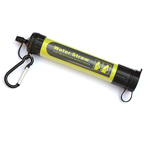 Little World Personal Water Filter WaterStraw Safe Physical Filtration With Aluminum Carabiner