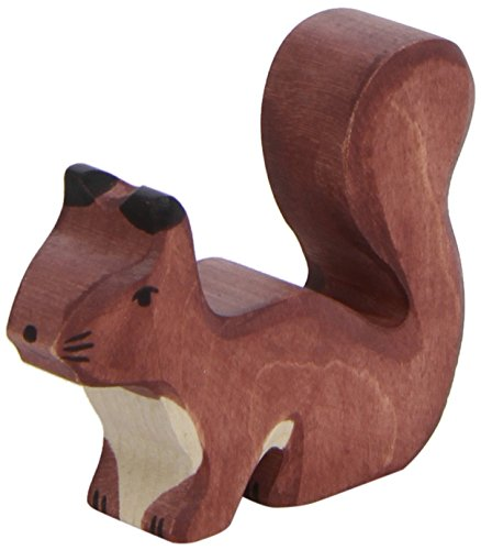 Holztiger Squirrel Standing Toy Figure, Brown
