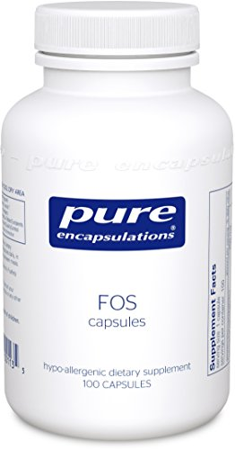 Pure Encapsulations - FOS (fructo-oligosaccharides) Capsules - supplément hypoallergénique pour saine flore * Intestinal - 100 Capsules