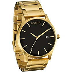 MVMT Watches Gold Case with Gold Stainless Steel Bracelet Men's Watch