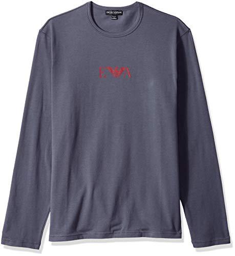 - Emporio Armani Men's Stretch Cotton L/s Crew T-Shirt, Anthracite, Medium