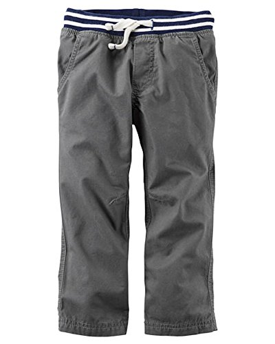 Carter's Baby Boy's Grey Canvas Utility Pants 6 Months