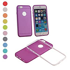 Mini - Elonbo 2 in 1 Beautiful Candy Color Plastic Hard Back Cover for iPhone 6 , Color-White