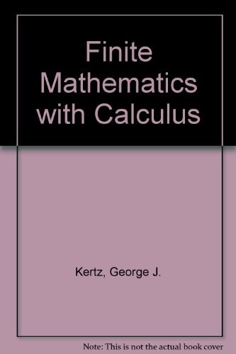 Applied Finite Mathematics and Calculus