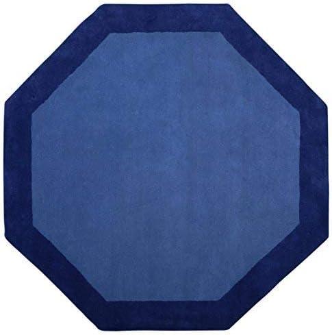 Blue Border 8 x8 Octagon Rug