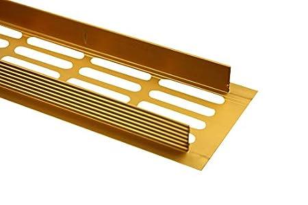 / /Rejilla de ventilaci/ón de aluminio 60/mm x 300/mm en diferentes colores Color Blanco//–/ral 9010