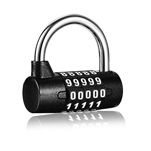 5 Digit Combination Padlock Resettable Combo Number Locker Lock Gym School Fence Outdoor Luggage Travel