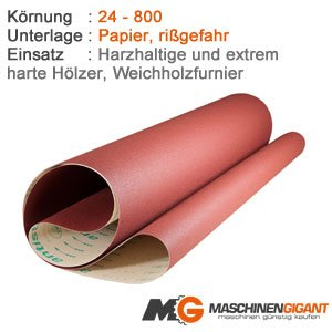 3 Papier Schleifbä nder fü r Holz, Lack 150 x 1220 mm Korn 120, Made in Germany holz-metall