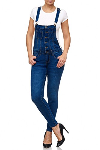 Shape Salopette Treggings Da Stretch Blu Skinny Effect Donna D2087 Jeans Arizonashopping 4X5WxqAw