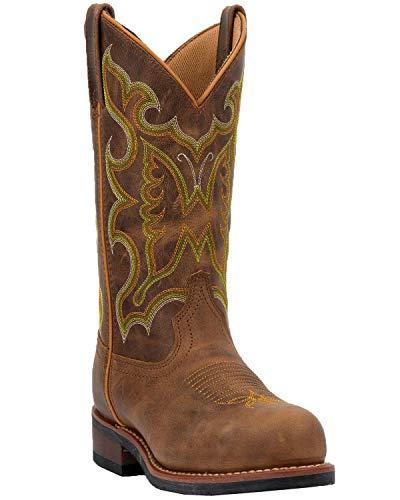 Laredo Women's Work Collection Ainsley Tan Distressed Steel Toe Size: 7.5, Width: Medium