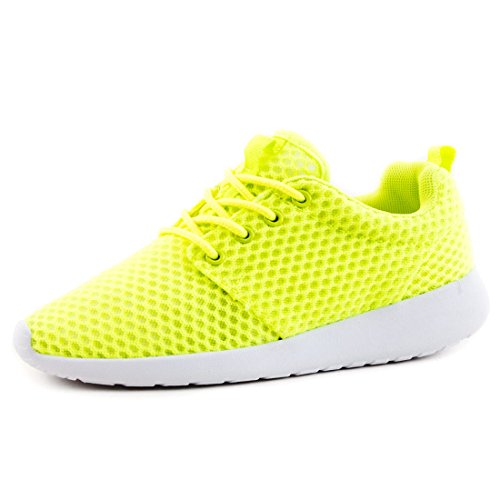 Unisexe Hommes Chaussures De Course Lacer Baskets Sneakers Loisirs Fitness Sport Vert N