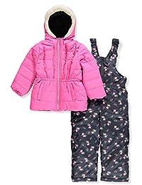 Pink Platinum Girls' Floral Print Snowsuit