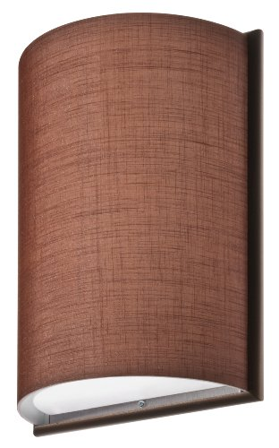 Lithonia Lighting DLSD16 BZ F02 Decorative Indoor Small Half Cylinder Chocolate Linen with Frame Sconce, Bronze