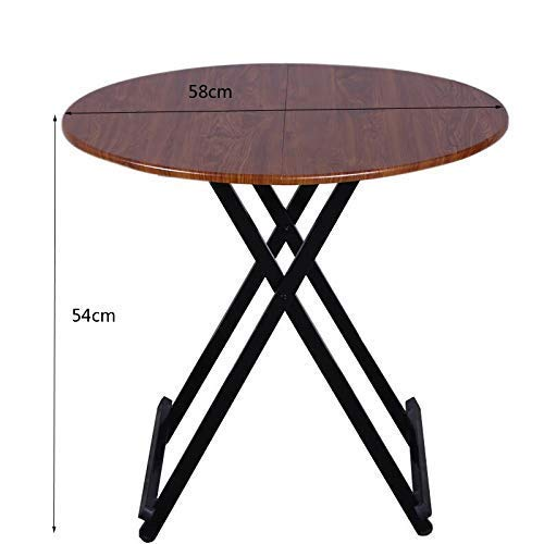 AOLI Household Folding Table/Multifunctional Simple Dining Table/Round Table/Small Small Foldable Simple Dining Table Folding Table,Green,Green ()