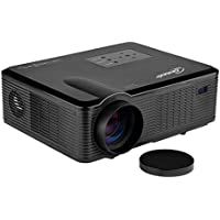 Taotaole 2400 Lumens LCD LED Video Projectors Multimedia Home Projector w/HDMI, Built-in Speakers and USB Reader 1080p Support