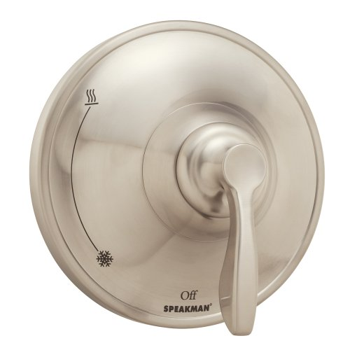 Speakman CPT-10000-P-BN Chelsea Pressure Balance Shower Valve Trim, Brushed Nickel (Valve Not Included) (Transitional Pressure Balance Valve)