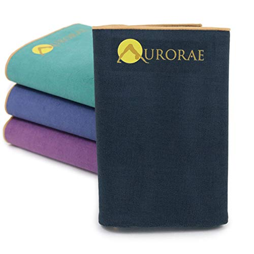 Aurorae Synergy Foldable On-the-Go Travel Yoga Mat; A Yoga Mat for Yogis on the Move with Integrated Microfiber Towel…