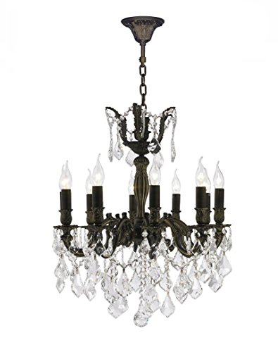 - Worldwide Lighting Versailles Collection 10 Light Flemish Brass Finish and Clear Crystal Chandelier 22