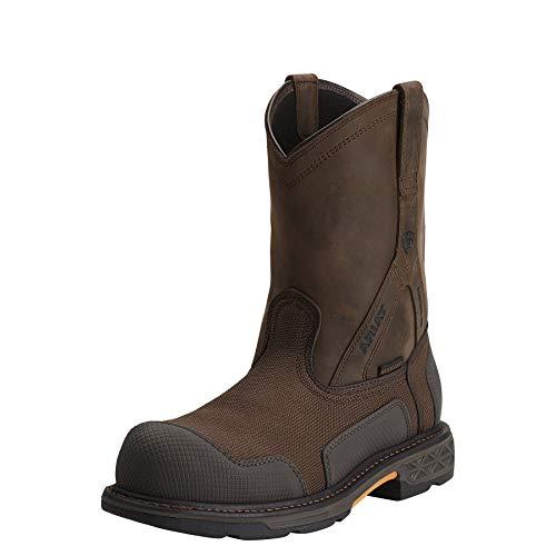 ARIAT Men s Overdrive XTR Waterproof Composite Toe Work Boot Brown Woven  Size 9.5 Ee Wide 7701bbf4060