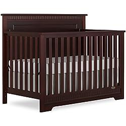 Dream On Me Morgan 5 in 1 Convertible Crib, Espresso