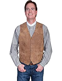 Western Vest Mens Quality Leather Button Lambskin 503