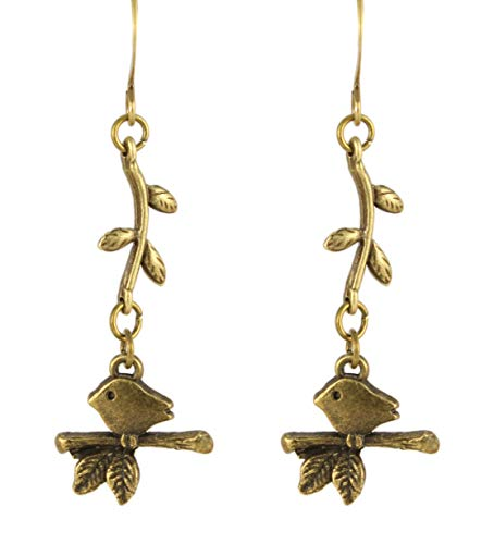 Ardent Designs Vines - Bird on a Vine Earrings