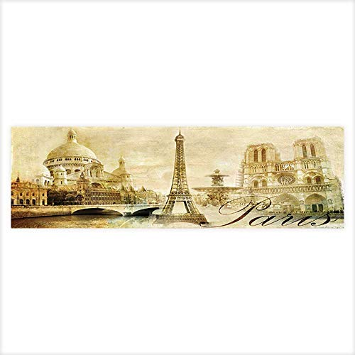 Jiahong Pan Decorative Aquarium Background Old Beautiful Paris Artistic Clip Art from My Vintage Series Decal Sticker Home Decor Art ()