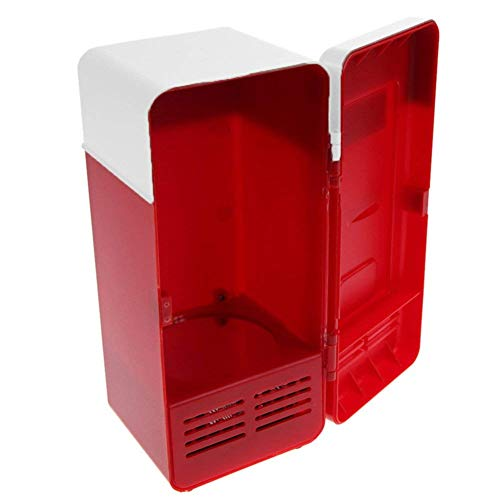 vinmax Mini USB Fridge Portable Beer Beverage Drink Cans Cooler & Warmer Mini Refrigerator for Car Laptop PC Computer Office Home Travel Picnic Boat(Red) by vinmax (Image #4)