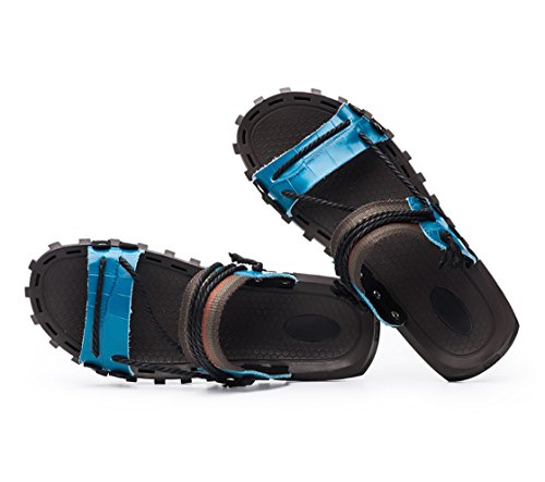 Sandalen Sandalen Hausschuhe Blau LIANGXIE Strand HausschuheZHANGM Sandalen Sandalen UK Neue und Leder Herren Mode Herren Wort 1 Sommer 2018 X8XYfRpq