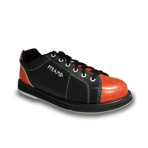 Pyramid Mens Path Bowling Shoes (Black/Orange, Size 8)
