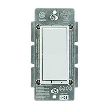 GE Z-Wave Wireless Smart Lighting Control Smart Dimmer Switch, In-Wall, Includes White & Light Almond Paddles, Works with Amazon Alexa, 12724