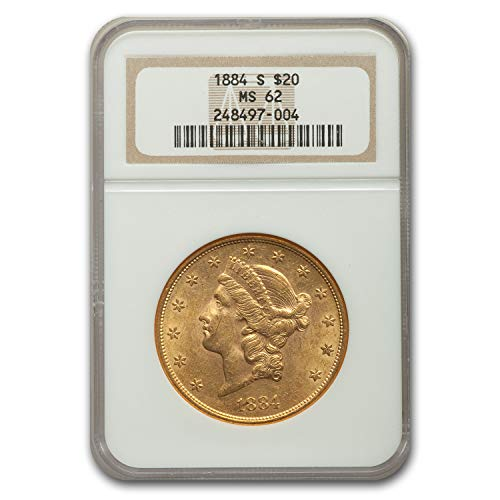 1884 S $20 Liberty Gold Double Eagle MS-62 NGC G$20 MS-62 NGC