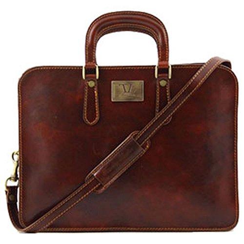 para Bolso cerdo marrón Tuscany hombre piel marrón hombro de de al Leather 8wngfZB